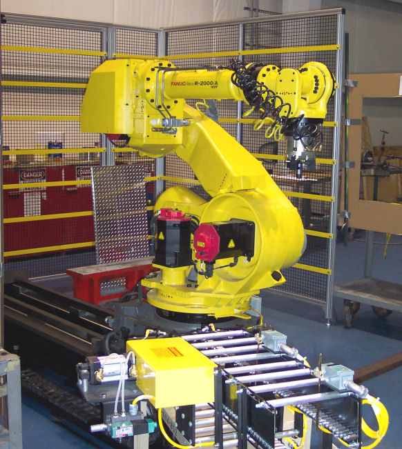 Fanuc Robot Automation from CNC Machine to Lathe Machine for CNC Turning, Grind